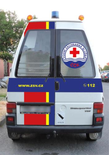 polep automobilu sanitka vodni zachranna sluzba 04
