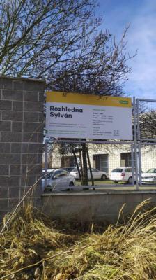 Plzeň UMO1 - cedule u rozhledny Sylván