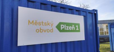 Plzeň UMO1 - cedule ve Sportparku