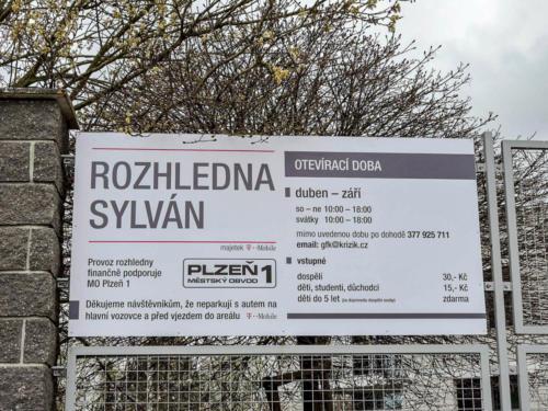 Mesto Plzen UMO1 cedule sylvan 02