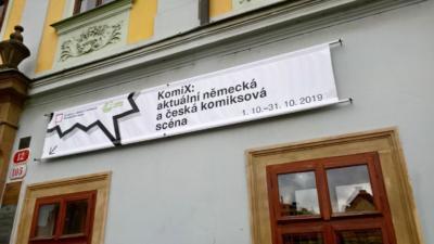Studijní a vědecká knihovna - banner k výstavě
